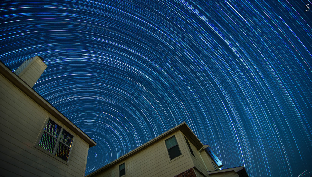 Edited star trail